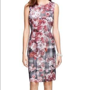 🌺BROOKS BROTHERS🌺PLAID FLORAL SHEATH DRESS🌺